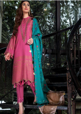 An Evening Affair by Charizma Embroidered Leather Unstitched 3 Piece Suit CRZ20SF 09 Enchilada - Winter Collection