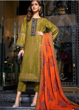 An Evening Affair by Charizma Embroidered Leather Unstitched 3 Piece Suit CRZ20SF 10 Warm Cocoon - Winter Collection