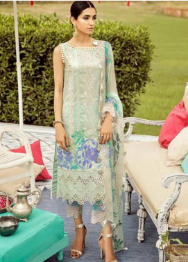 Charizma Embroidered Lawn Unstitched 3 Piece Suit CRZ19EF 37 SOOTHNG FACTOR - Festive Collection