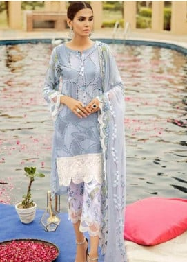 Charizma Embroidered Lawn Unstitched 3 Piece Suit CRZ19EF 38 PEARL RIVER - Festive Collection