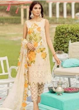 Charizma Embroidered Schiffli Unstitched 3 Piece Suit CRZ19EF 40 INTO LIMELIGHT - Festive Collection