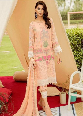 Charizma Embroidered Schiffli Unstitched 3 Piece Suit CRZ19EF 43 ORIENTAL PASTEL - Festive Collection