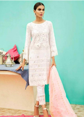 Charizma Embroidered Schiffli Unstitched 3 Piece Suit CRZ19EF 44 GLAMOUR HOUR - Festive Collection
