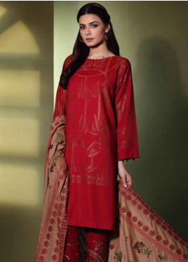 Charizma Embroidered Jacquard Unstitched 3 Piece Suit CRZ19W 04 - Winter Collection