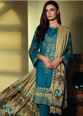 Charizma Embroidered Jacquard Unstitched 3 Piece Suit CRZ19W 07 - Winter Collection