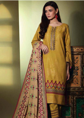 Charizma Embroidered Jacquard Unstitched 3 Piece Suit CRZ19W 10 - Winter Collection