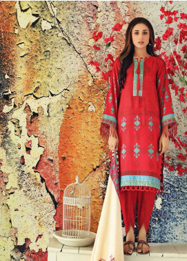 Marina Print by Charizma Printed Marina Unstitched 3 Piece Suit CRZ20MP 01 Fire Clay - Winter Collection