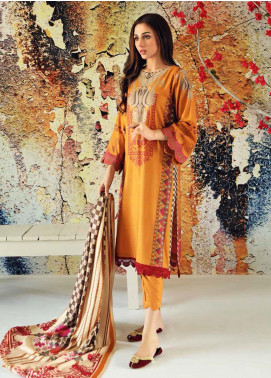 Marina Print by Charizma Printed Marina Unstitched 3 Piece Suit CRZ20MP 05 Dawn Sun - Winter Collection