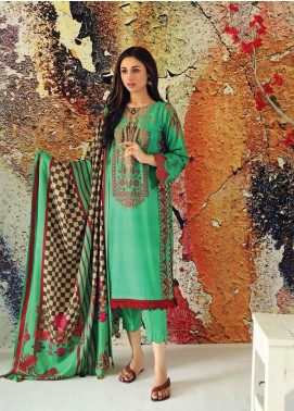Marina Print by Charizma Printed Marina Unstitched 3 Piece Suit CRZ20MP 06 Bright Jade - Winter Collection