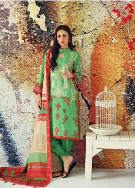 Marina Print by Charizma Printed Marina Unstitched 3 Piece Suit CRZ20MP 08 Dainty Green - Winter Collection