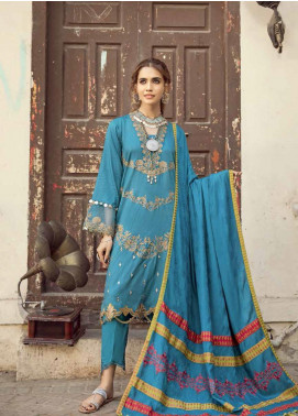 Masakali by Charizma Embroidered Missouri Unstitched 3 Piece Suit CRZ20MK 01 Teal Trip - Winter Collection