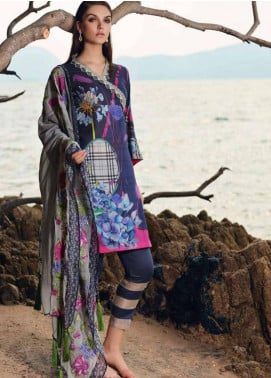 Charizma Naranji Embroidered Lawn Unstitched 3 Piece Suit CRZ19N 01 - Spring / Summer Collection
