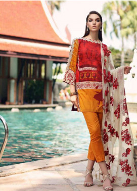 Charizma Naranji Embroidered Lawn Unstitched 3 Piece Suit CRZ19N 02 - Spring / Summer Collection