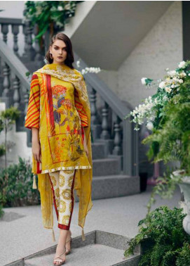Charizma Naranji Embroidered Lawn Unstitched 3 Piece Suit CRZ19N 03 - Spring / Summer Collection