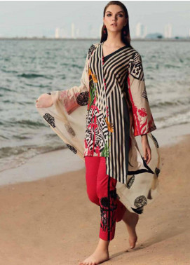 Charizma Naranji Embroidered Lawn Unstitched 3 Piece Suit CRZ19N 04 - Spring / Summer Collection