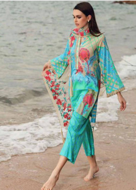 Charizma Naranji Embroidered Lawn Unstitched 3 Piece Suit CRZ19N 06 - Spring / Summer Collection