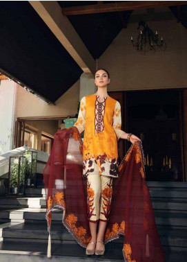 Charizma Naranji Embroidered Lawn Unstitched 3 Piece Suit CRZ19N 07 - Spring / Summer Collection