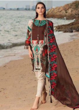 Charizma Naranji Embroidered Lawn Unstitched 3 Piece Suit CRZ19N 08 - Spring / Summer Collection