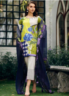 Charizma Naranji Embroidered Lawn Unstitched 3 Piece Suit CRZ19N 12 - Spring / Summer Collection
