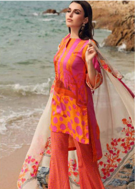 Charizma Naranji Embroidered Lawn Unstitched 3 Piece Suit CRZ19N 13 - Spring / Summer Collection