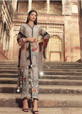 Charizma Embroidered Karandi Unstitched 3 Piece Suit CRZ19K 02 - Formal Collection
