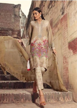 Charizma Embroidered Karandi Unstitched 3 Piece Suit CRZ19K 05A - Formal Collection