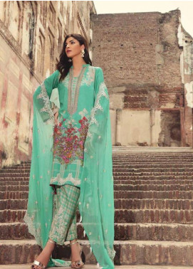 Charizma Embroidered Karandi Unstitched 3 Piece Suit CRZ19K 05B - Formal Collection