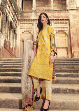 Charizma Embroidered Karandi Unstitched 3 Piece Suit CRZ19K 08 - Formal Collection