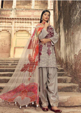 Charizma Embroidered Karandi Unstitched 3 Piece Suit CRZ19K 09 - Formal Collection