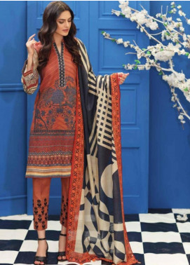 Charizma Embroidered Khaddar Unstitched 3 Piece Suit CRZ19-K2 12 - Luxury Collection