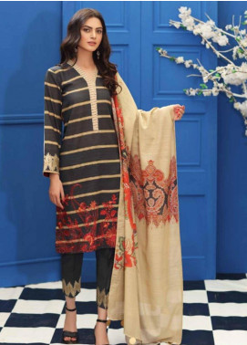 Charizma Embroidered Khaddar Unstitched 3 Piece Suit CRZ19-K2 14 - Luxury Collection