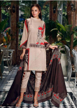 Charizma Embroidered Khaddar Unstitched 3 Piece Suit CRZ19-K2 15 - Luxury Collection