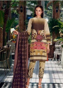 Charizma Embroidered Khaddar Unstitched 3 Piece Suit CRZ19-K2 20 - Luxury Collection