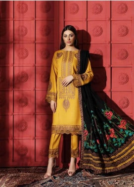 Naranji by Charizma Embroidered Leather Unstitched 3 Piece Suit CRZ20NL 01 Abstract Garden - Winter Collection