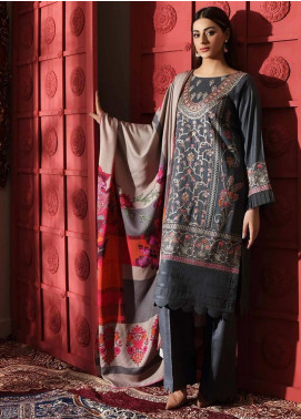 Naranji by Charizma Embroidered Leather Unstitched 3 Piece Suit CRZ20NL 03 Cedar Cove - Winter Collection
