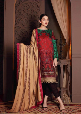 Naranji by Charizma Embroidered Marina Unstitched 3 Piece Suit CRZ20NL 04 Fiesta - Winter Collection