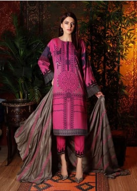 Naranji by Charizma Embroidered Marina Unstitched 3 Piece Suit CRZ20NL 05 Geometric Maze - Winter Collection