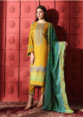 Naranji by Charizma Embroidered Marina Unstitched 3 Piece Suit CRZ20NL 08 Mustard Fields - Winter Collection