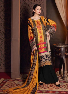 Naranji by Charizma Embroidered Marina Unstitched 3 Piece Suit CRZ20NL 09 Aztec Rouge - Winter Collection