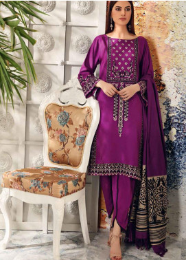Charizma Embroidered Acrylic Unstitched 3 Piece Suit CRZ20AW 01 - Winter Collection