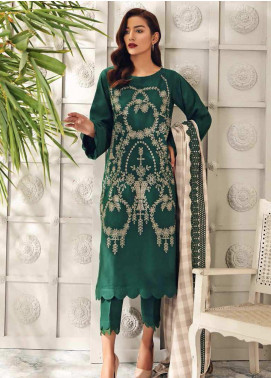 Charizma Embroidered Leather Unstitched 3 Piece Suit CRZ20AW 04 - Winter Collection
