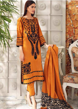 Charizma Embroidered Acrylic Unstitched 3 Piece Suit CRZ20AW 05 - Winter Collection