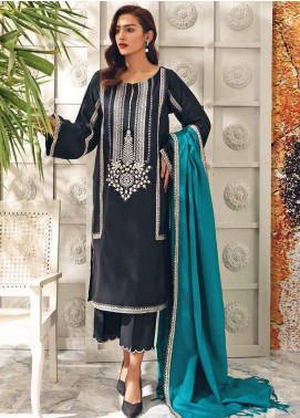 Charizma Embroidered Leather Unstitched 3 Piece Suit CRZ20AW 06 - Winter Collection