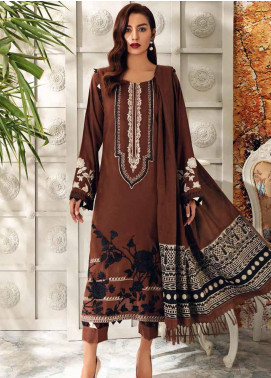 Charizma Embroidered Acrylic Unstitched 3 Piece Suit CRZ20AW 07 - Winter Collection