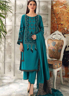 Charizma Embroidered Acrylic Unstitched 3 Piece Suit CRZ20AW 08 - Winter Collection