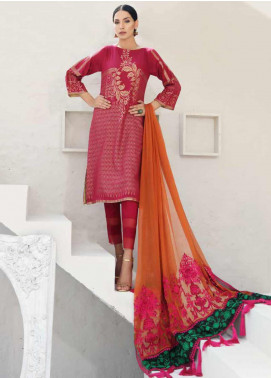 Charizma Embroidered Jacquard Unstitched 3 Piece Suit CRZ20J-06 - Luxury Collection