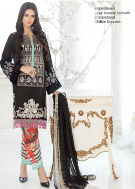 Charizma Embroidered Lawn Unstitched 3 Piece Suit CRZ20SK 16 - Summer Collection