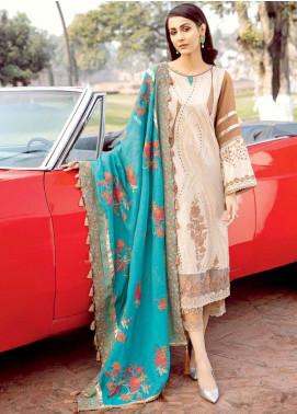 Charizma Embroidered Schiffli Unstitched 3 Piece Suit CRZ20LS 2A - Spring / Summer Collection