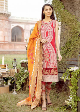 Charizma Embroidered Schiffli Unstitched 3 Piece Suit CRZ20LS 2B - Spring / Summer Collection