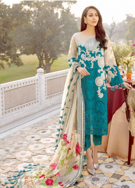 Charizma Embroidered Schiffli Unstitched 3 Piece Suit CRZ20LS 7B - Spring / Summer Collection